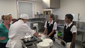 GLR Hospitality students hard at work in the Roxy Trade Training Kitchen