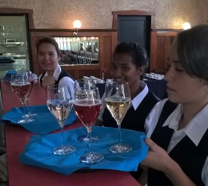 Hospitality students at the Roxy cafe