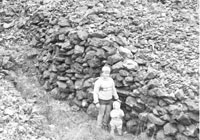 Stones stacked by the Chinese, Upper Bingara