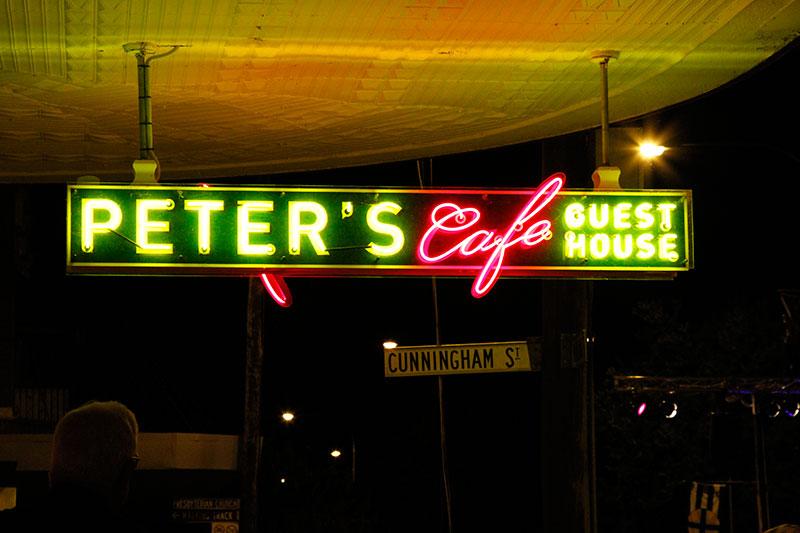 Roxy Cafe Sign