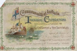 1901 Invitation to Veness JCL to Federation Celebrations