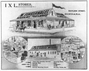 Fingernagel's store - Bingara Telegraph Supplement