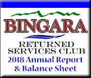 Bingara RSL Annual Report