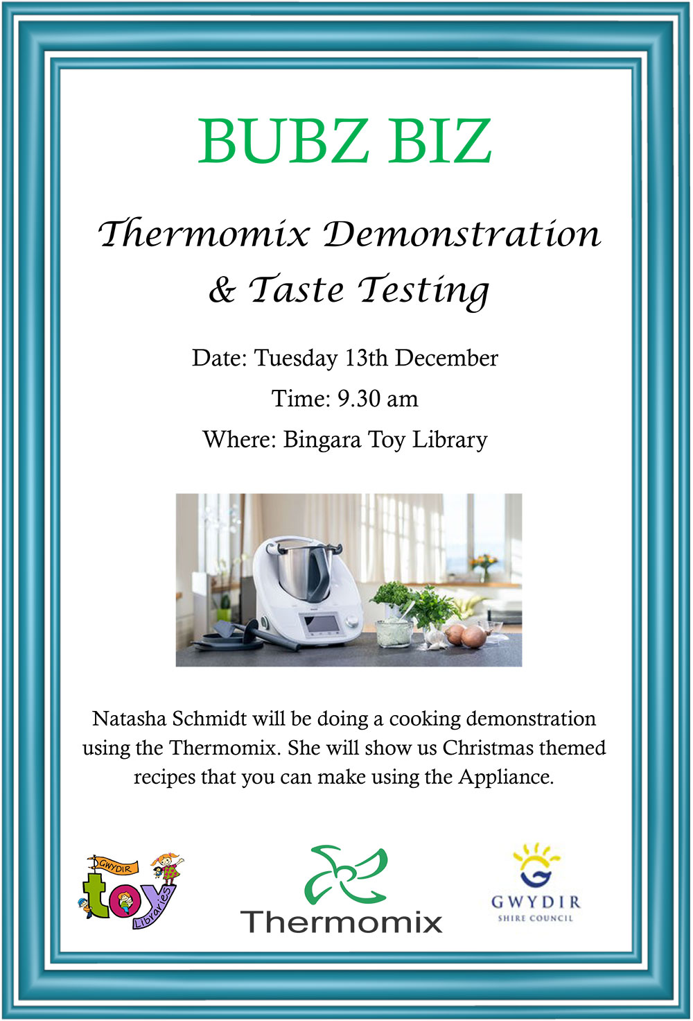 Thermomix Demonstration & Taste Testing