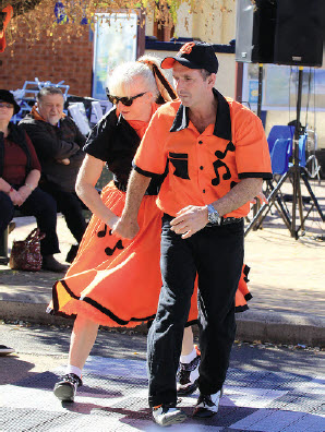 Dancers show their moves at the Bingara Orange Festival.