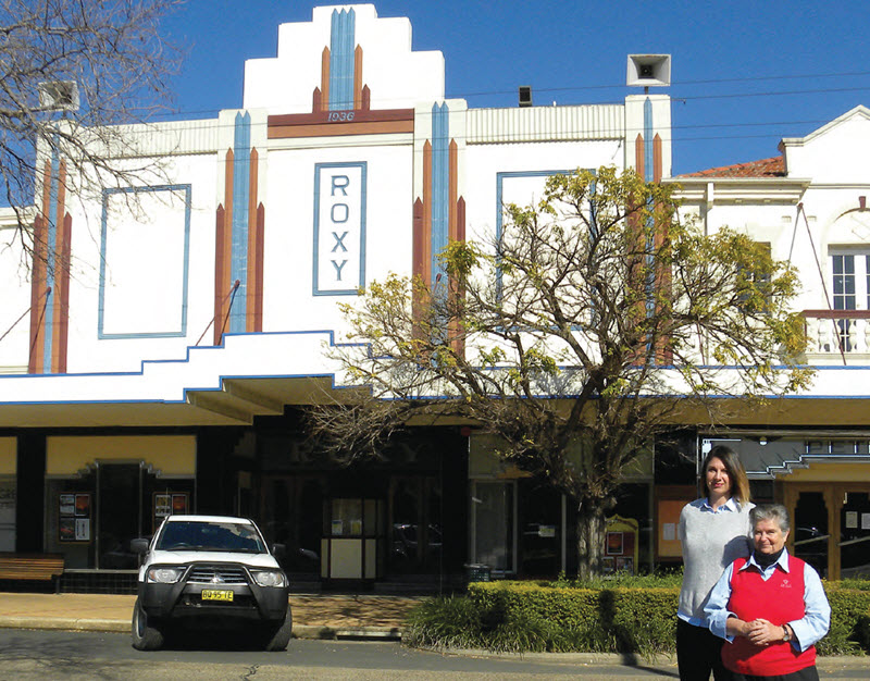 Gwydir Shire Council Marketing and Promotions team leader Georgia Standerwick, and Tourist officer, Jen Mead, both work in, love and are very proud of Bingara's Roxy Theatre.