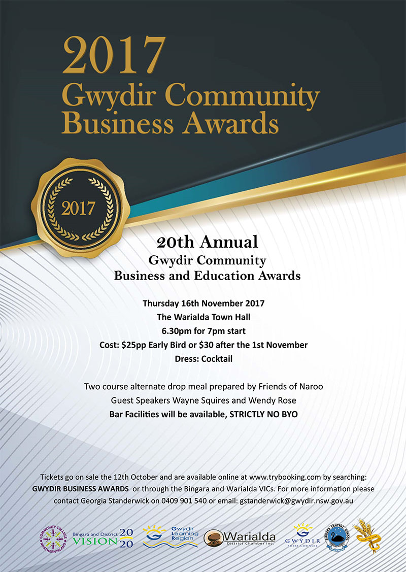 Gwydir Community Business Awards