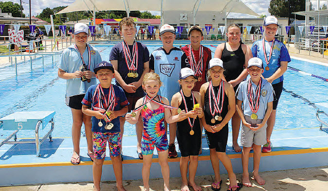 Bingara swimmers