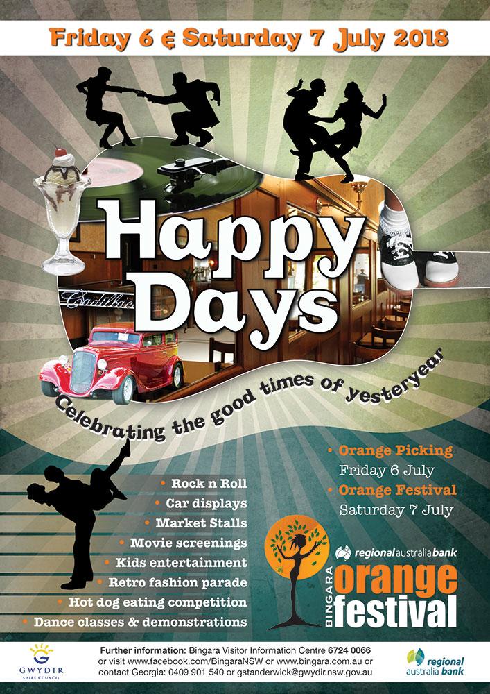Happy Days. 2018 Bingara Orange Festival