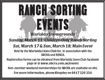 Warialda Ranch Sorting Events