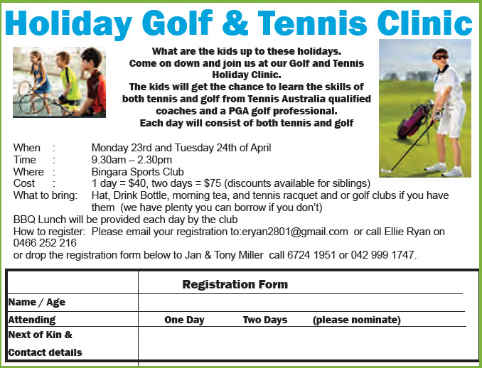 Holiday Golf & Tennis Clinic