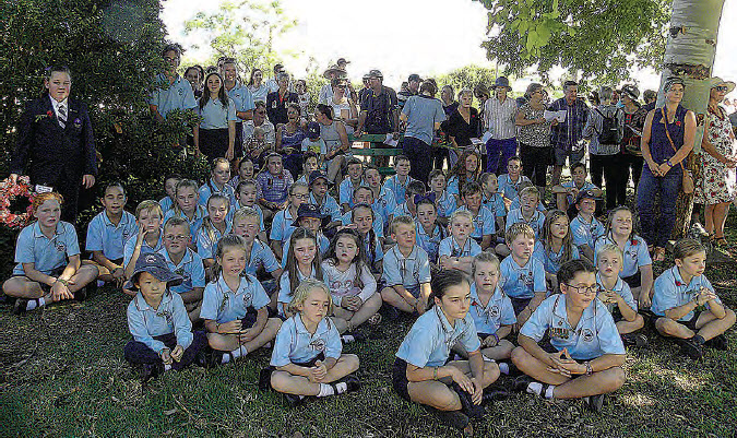 Bingara Central School turned out in force, with over 50 children marching in School Uniform, and taking part in the service.