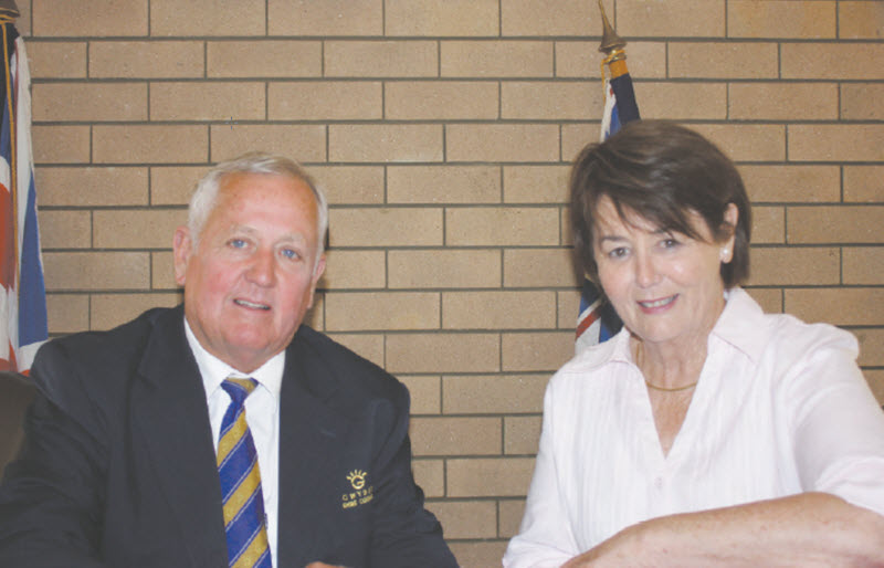Unopposed, Gwydir Shire Mayor John Coulton, and his Deputy, Catherine Egan.