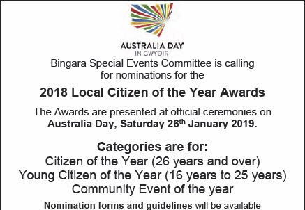 2018 Local Citizen of The Year Nominations