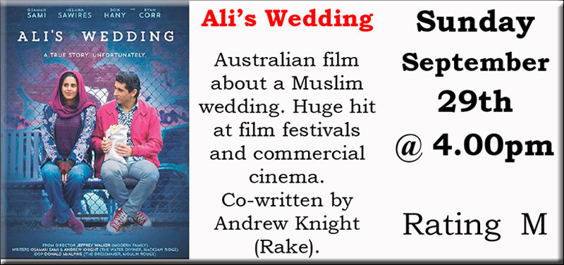 Ali S Wedding.Nwtc Film Club Monthly Film Ali S Wedding Bingara