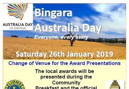 2019 Bingara Australia Day