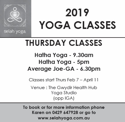 2019 Yoga classes