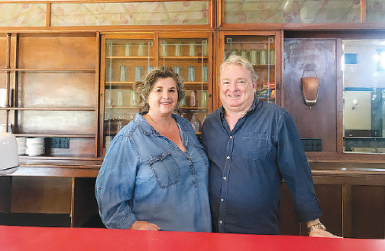 Patsy and Tim Cox, embarking on an exciting new business project.