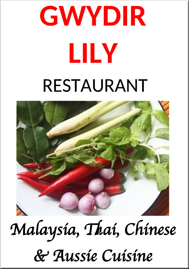 Gwydir Lily Menu