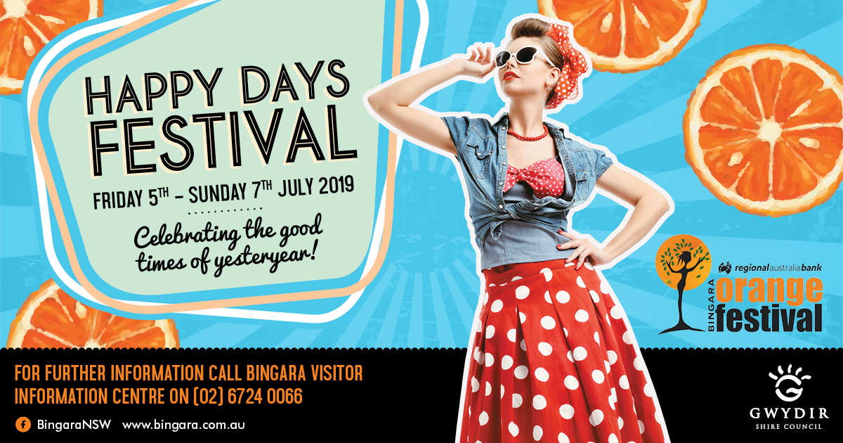 Bingara Happy Days Orange Festival Full program