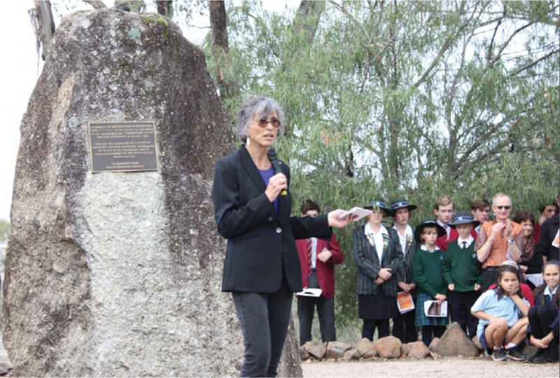Guest speaker at Myall Creek, Professor Lisa Jackson-Pulver AM