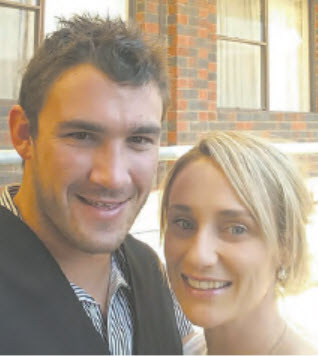 Steven Simpson with his wife Elise.