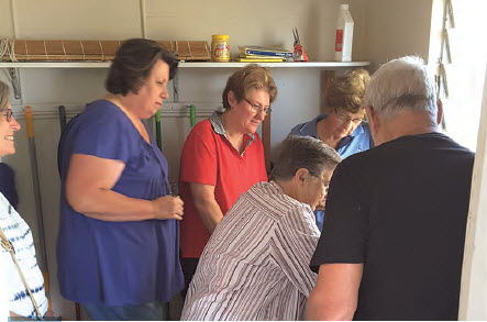 No more dripping taps for these Bingara U3A members changing tap washers.