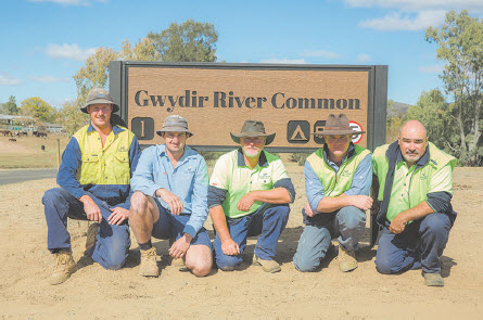 Signs will help with the management of the Gwydir River.