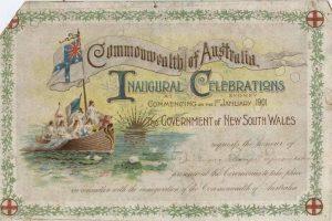 1901 Invitation to Veness JCL to Federation Celebrations