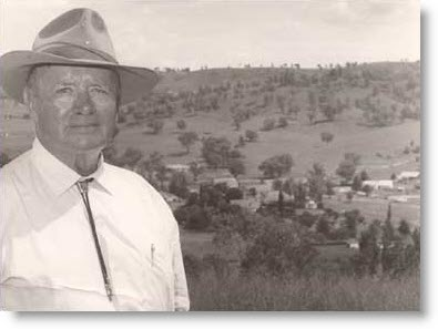 [Photo: H Gordon Munro with his property Keera in the background.]
