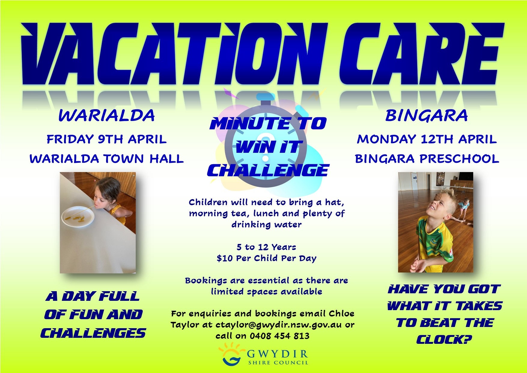 Bingara & Warialda Vacation Care