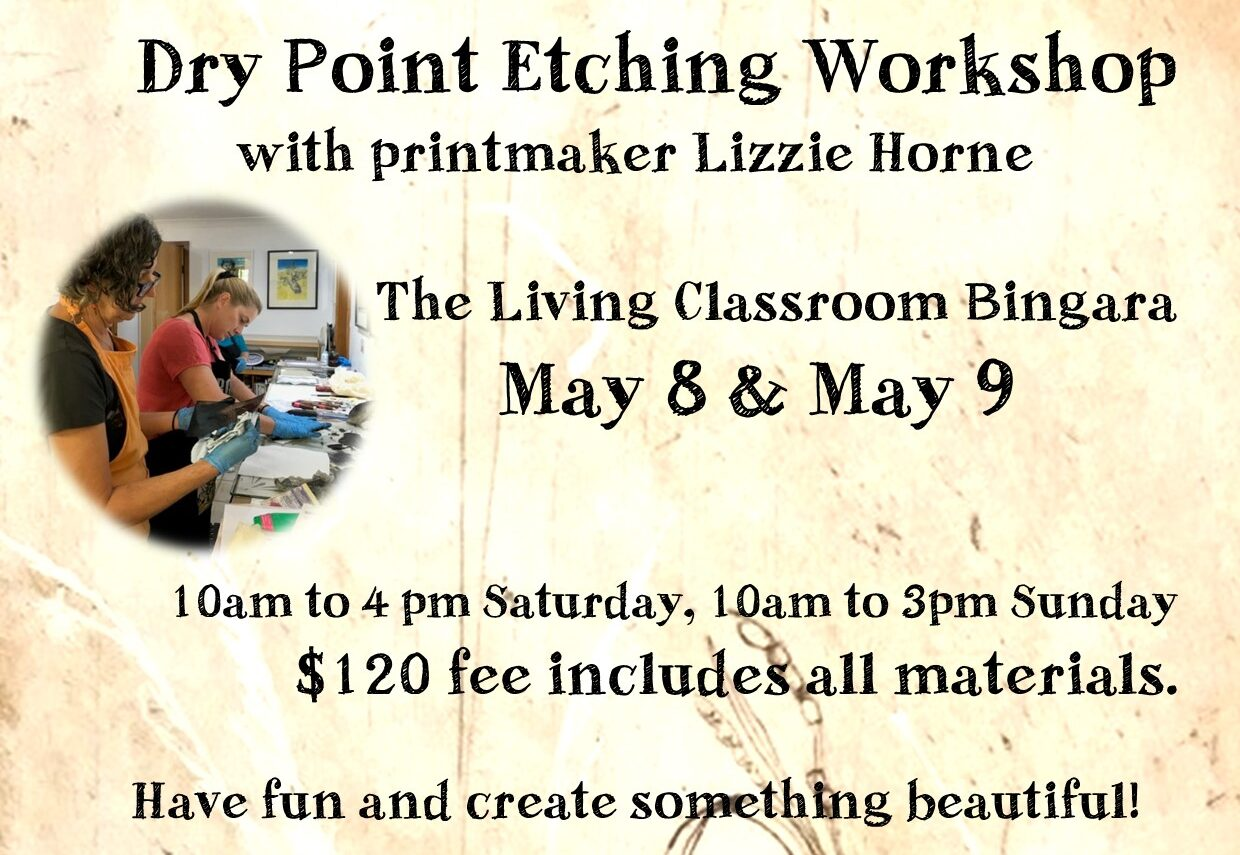 Dry Point Etching Workshop